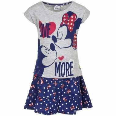 Minnie mouse kledingsetje blauw/grijs