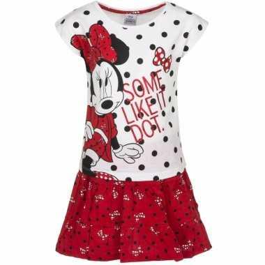 Minnie mouse kledingsetje rood/wit