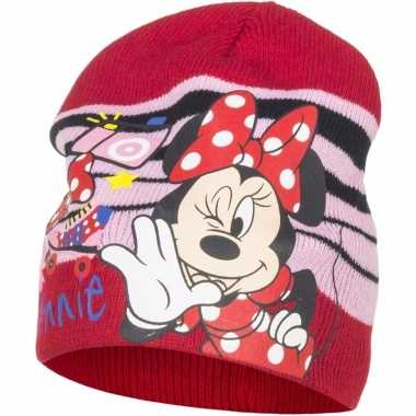 Minnie mouse muts rood voor meisjes