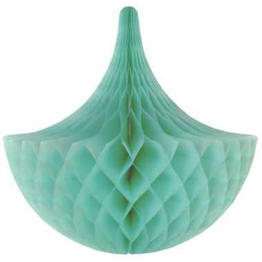Mint kroonluchter versiering 45 cm