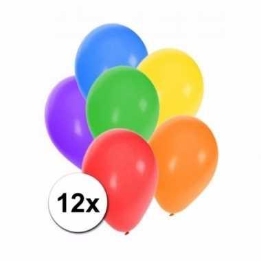 Mix ballonnen gekleurd 12 stuks