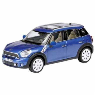 Model auto mini countryman blauw 1:24