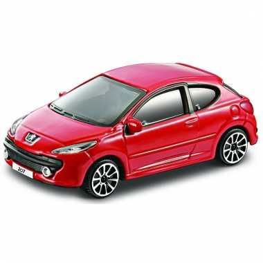 Model auto peugeot 207 rood 1:43