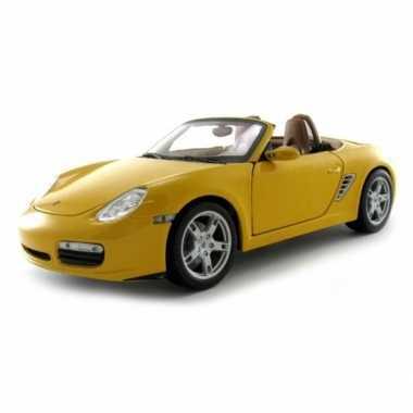 Model auto porsche boxter s cabrio geel