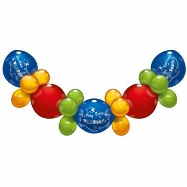 Mooi ballonnen guirlande welkom