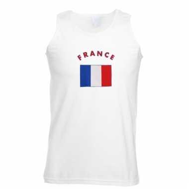 Mouwloos t-shirt met frankrijk vlag