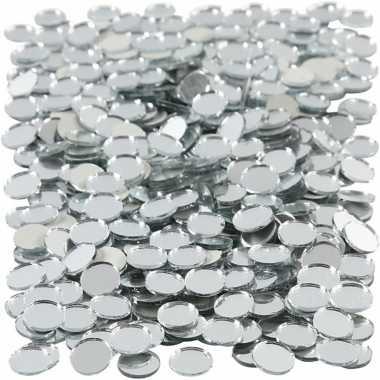Mozaiek spiegel tegels rondjes 10x10 mm
