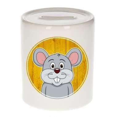 Muizen spaarpot van keramiek 9 cm