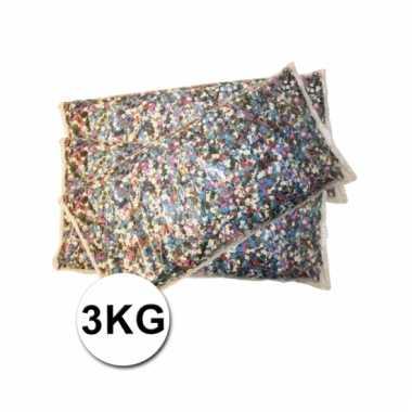 Multicolor confetti zak 3 kilo