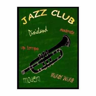 Muziekliefhebbers cadeau jazz trompet muurbord 30 x 40 cm