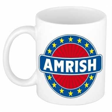 Naamartikelen amrish mok / beker keramiek 300 ml