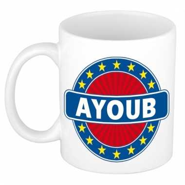 Naamartikelen ayoub mok / beker keramiek 300 ml
