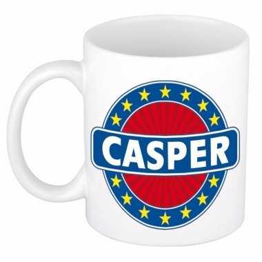 Naamartikelen casper mok / beker keramiek 300 ml