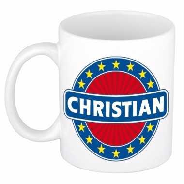 Naamartikelen christian mok / beker keramiek 300 ml