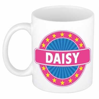 Naamartikelen daisy mok / beker keramiek 300 ml