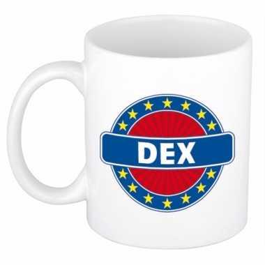 Naamartikelen dex mok / beker keramiek 300 ml