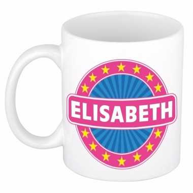 Naamartikelen elisabeth mok / beker keramiek 300 ml