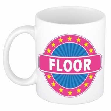 Naamartikelen floor mok / beker keramiek 300 ml