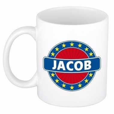 Naamartikelen jacob mok / beker keramiek 300 ml