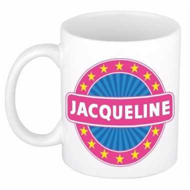 Naamartikelen jacqueline mok / beker keramiek 300 ml