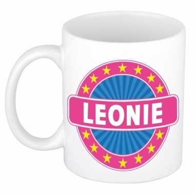 Naamartikelen leonie mok / beker keramiek 300 ml