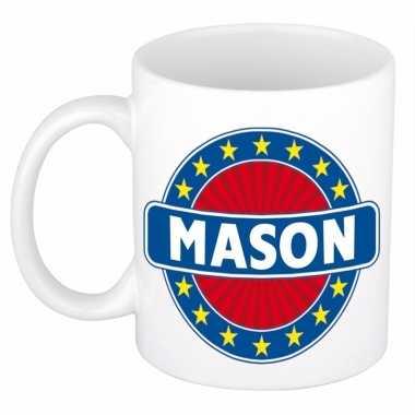 Naamartikelen mason mok / beker keramiek 300 ml