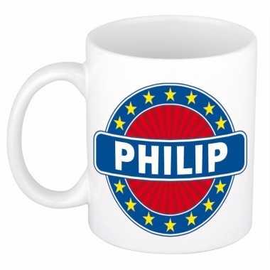 Naamartikelen philip mok / beker keramiek 300 ml
