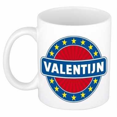 Naamartikelen valentijn mok / beker keramiek 300 ml