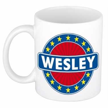 Naamartikelen wesley mok / beker keramiek 300 ml