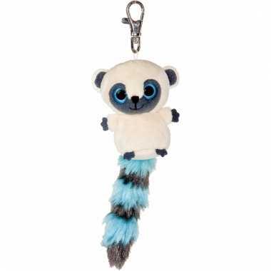 Nacht aap sleutelhanger blauw 7,5 cm