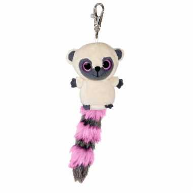 Nacht aap sleutelhanger roze 7,5 cm