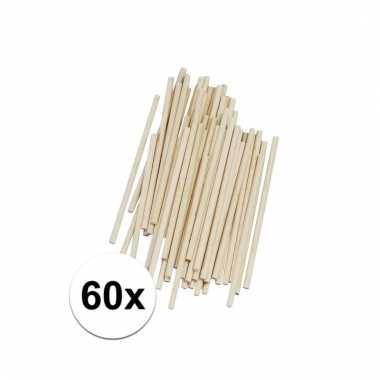 Naturel houten knutsel stokjes 10 cm 60 st