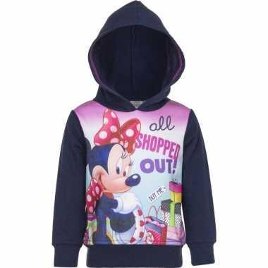 Navy minnie mouse sweater met capuchon voor meisjes