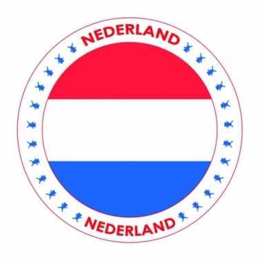 Nederland vlag print bierviltjes