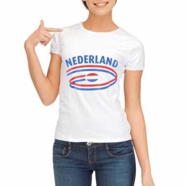 Nederland vlaggen t-shirts voor dames