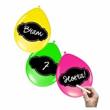 Neon ballon 6 stuks