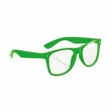 Neon groene party bril voor volwassenen