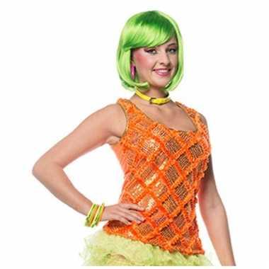 Neon oranje eighties hemd