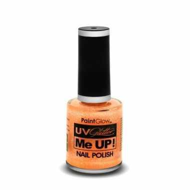 Neon oranje glitter nagellak blacklight