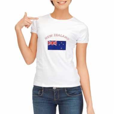 Nieuw zeelandse vlaggen t-shirt voor dames