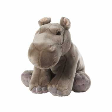 Nijlpaard knuffel zittend 22 cm