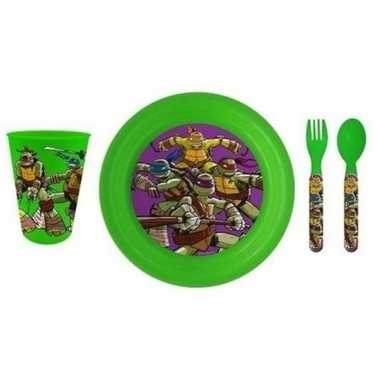 Ninja turtles kinderservies plastic