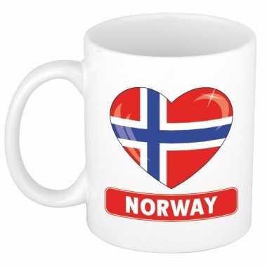 Noorse vlag hart mok / beker 300 ml