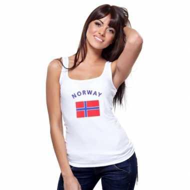 Noorse vlag tanktop / singlet voor dames