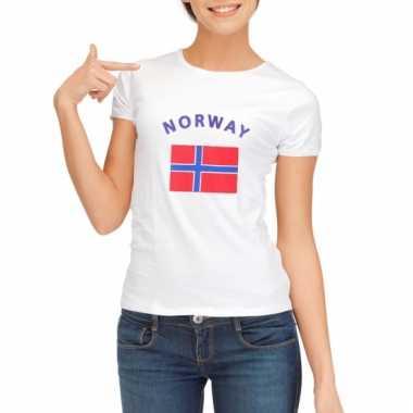 Noorse vlaggen t-shirt voor dames