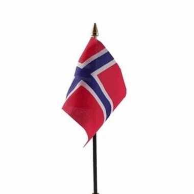 Noorwegen luxe zwaaivlaggetje polyester