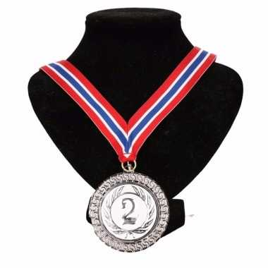 Noorwegen medaille nr. 2 halslint rood/wit/blauw
