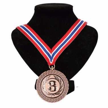 Noorwegen medaille nr. 3 halslint rood/wit/blauw