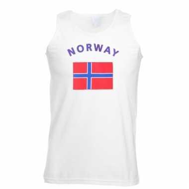 Noorwegen vlaggen tanktop/ t-shirt