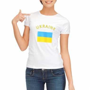Oekraiens vlaggen t-shirt voor dames